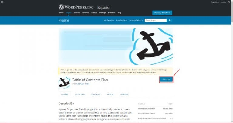 wordpress.org table of content plus