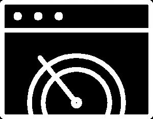 icono pagina web con medido de velocidad