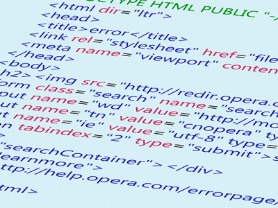código html sobre fondo azul claro